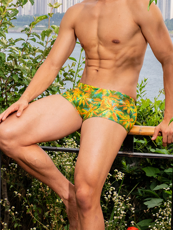 Short square for male athletes <br> MSP-20477 Summer Mojito GREEN